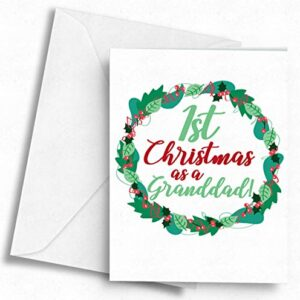 1st Christmas as a Granddad! – A5 Greetings Card