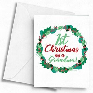 1st Christmas as a Grandma! – A5 Greetings Card