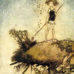 A2 Midsummer Nights Dream V Arthur Rackham 1908 Picture print on Canvas