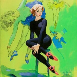 Al Buell Blonde Ballet Pin-up Vintage Art Print
