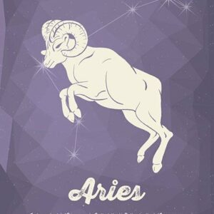 Aries Horoscope Metal Wall Plate