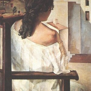 Back of Girl Dali Reproduction Art Print A4 A3 A2 A1