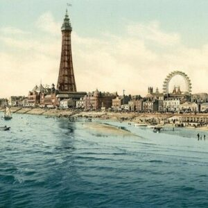 Blackpool 2 Seaside Scenes Print Poster A4 A3 A2 A1
