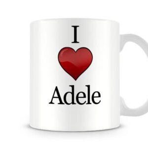 Christmas Stocking Filler I Love Adele Ideal Gift! – Printed Mug