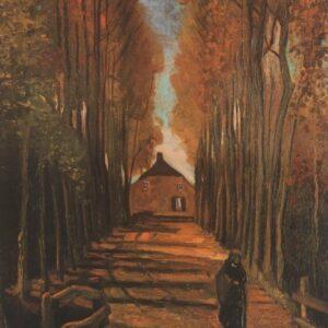 Avenue Poplars Autumn Van Gogh VG059 Reproduction Art Print A4 A3 A2 A1