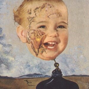 Baby Map of the World Salvador Dali Reproduction Art Print A4 A3 A2 A1