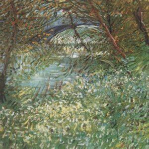 Banks of River Seine Clichys Bridge Van Gogh VG372 Art Print A4 A3 A2 A1