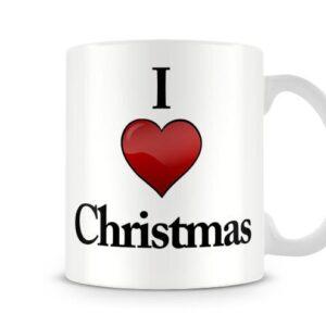 I Love Christmas Ideal Gift – Printed Mug