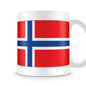 The Flag Of Norway Both Sides Or Wrapped Around – Printed Mug