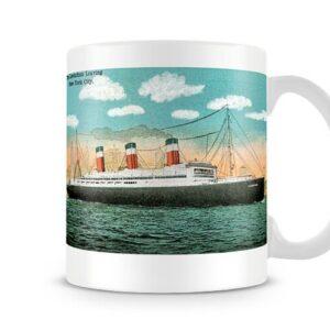 American Line Ship Ss Leviathan Built In 1917 – Printed Mug