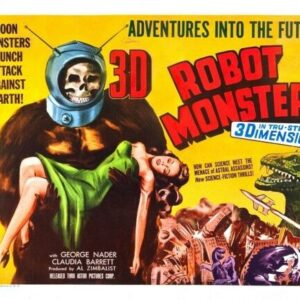 ROBOT MONSTER 02 VINTAGE B-MOVIE REPRODUCTION ART PRINT A4 A3 A2 A1