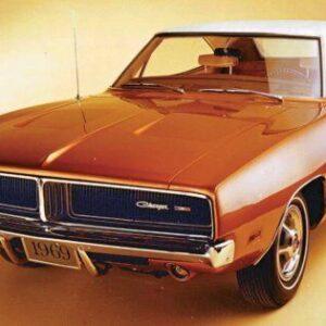 1969 Dodge Charger CARS5301 Art Poster Print A4 A3 A2 A1