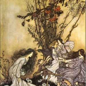 A2 Dancing With The Fairies Arthur Rackham 1906 Picture print on Canvas