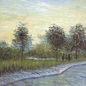 Avenue Voyerd Argenson Park Asnieres Van Gogh VG357 Art Print A4 A3 A2 A1