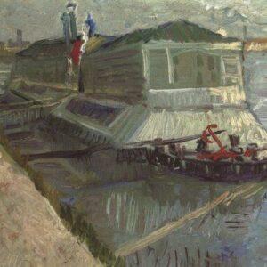Bathroom Buoys River Seine Asniere Van Gogh VG393 Art Print A4 A3 A2 A1