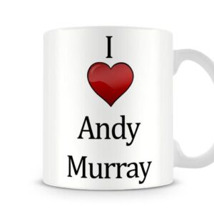 Christmas Stocking Filler I Love Andy Murray Ideal Gift! – Printed Mug