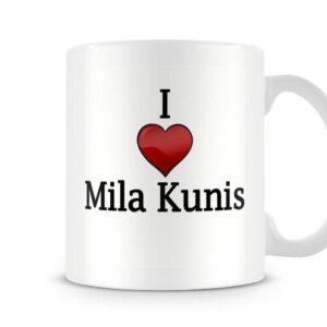 Christmas Stocking Filler I Love Mila Kunis Ideal Gift! – Printed Mug
