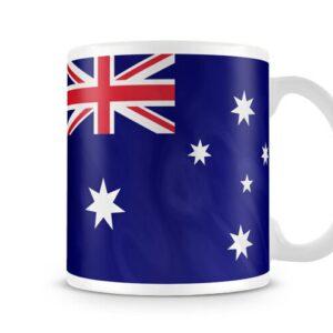 The Australian Flag Both Sides Or Wrapped Around – Printed Mug