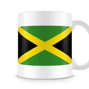 The Jamaican Flag Both Sides Or Wrapped Around – Printed Mug