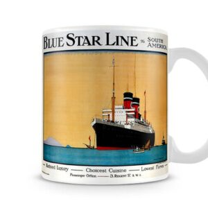 Blue Star Line Advertisement For South American Travel – Printed Mug