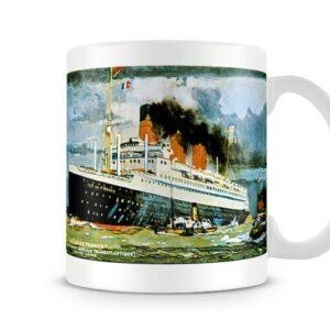 Cgt Line Ship Ile De France Built In 1925 – Printed Mug