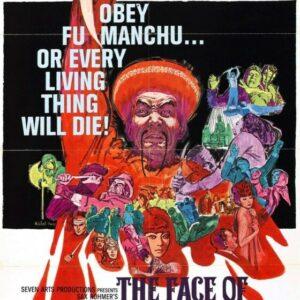 Vintage B Movie Poster Face Of Fu Manchu Print Art A4 A3 A2 A1