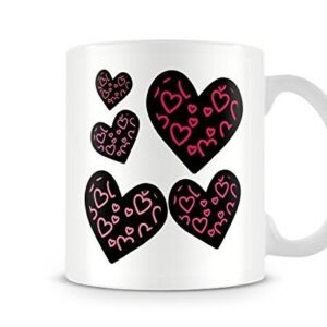 5 Colourful Love Hearts Mug – Printed Mug