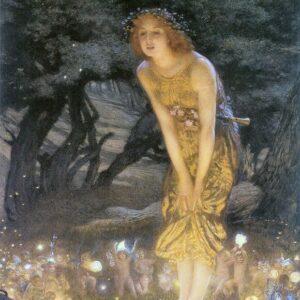 A2 Midsummer Eve Edward Robert Hughes 1908 Picture print on Canvas