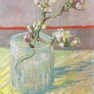 Branch Almond in a Glass Vincent Van Gogh VG430 Art Print A4 A3 A2 A1