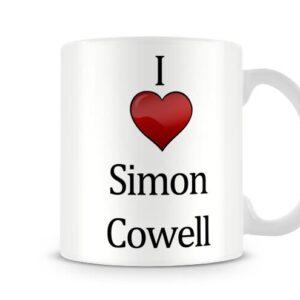 Christmas Stocking Filler I Love Simon Cowell Ideal Gift! – Printed Mug
