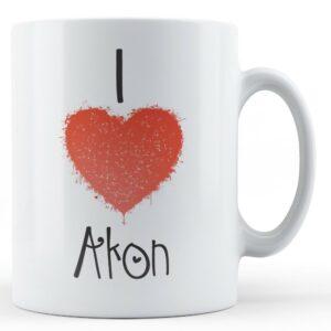 Decorative Writing I Love Akon – Printed Mug