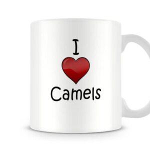 I Love Camels Ideal Gift – Printed Mug