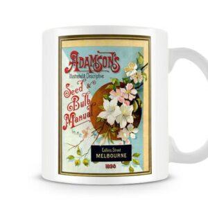 Adamsons Seed Bulb 1898 Vintage Label – Printed Mug