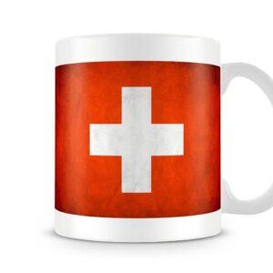 Flag Of Switzerland Both Sides Or Wrap Around – Printed Mug
