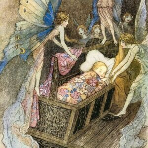 A2 Book Of Fairy Poetry Warwick Goble 1920 Picture print on Canvas