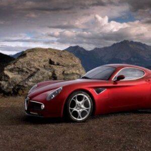 Alfa Romeo 8c CARS1627 Art Print A4 A3 A2 A1