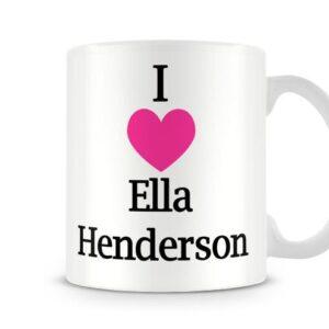 Christmas Stocking Filler I Love Ella Henderson Ideal Gift! – Printed Mug