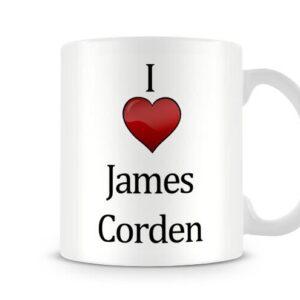 Christmas Stocking Filler I Love James Corden Ideal Gift! – Printed Mug