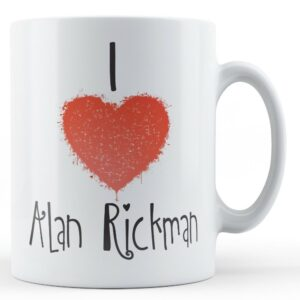 Decorative Writing I Love Alan Rickman – Printed Mug