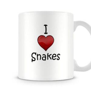 I Love Snakes Ideal Gift – Printed Mug