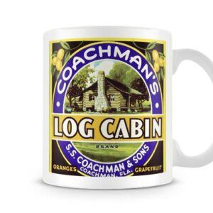 Coachmans Log Cabin Vintage Label – Printed Mug