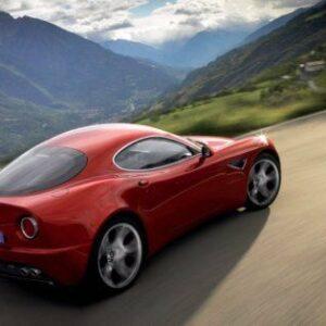 Alfa Romeo 8c CARS1723 Art Print A4 A3 A2 A1