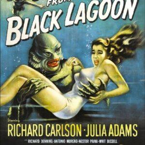CREATURE BLACK LAGOON VINTAGE B-MOVIE REPRODUCTION ART PRINT A4 A3 A2 A1