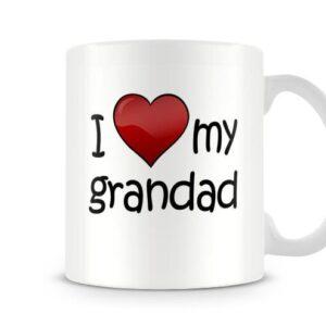 I Love My Grandad Ideal Gift – Printed Mug