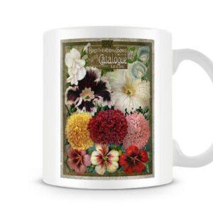 Brotherton And Sons Spring Flowers Vintage Label – Printed Mug