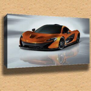 "2012 McLaren P1 Super Car Framed Canvas Print A2 – 16"" x 24"""