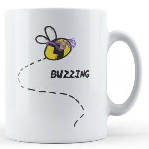Buzzing Bee – Printed Mug
