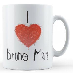Decorative Writing I Love Bruno Mars – Printed Mug