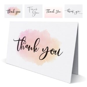 Folded Wedding Thank You Cards – Pack of 10