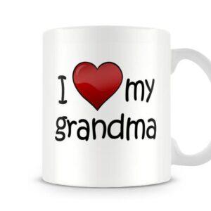 I Love My Grandma Ideal Gift – Printed Mug